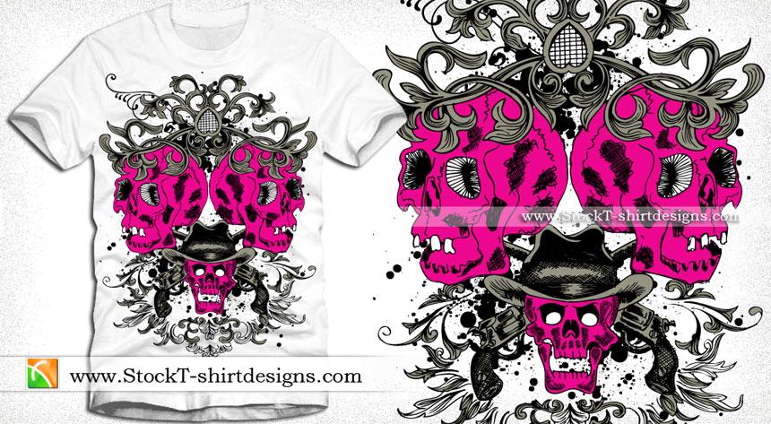 skull Vector T-shirt Designs Download | T-shirt Design Illustrator ...