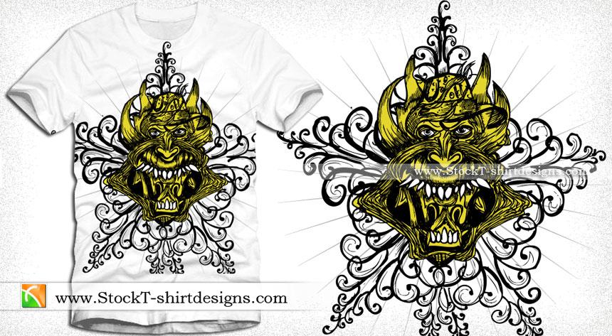 3d51b70c demon Vector T-shirt Designs Download | T-shirt Design Illustrator ...