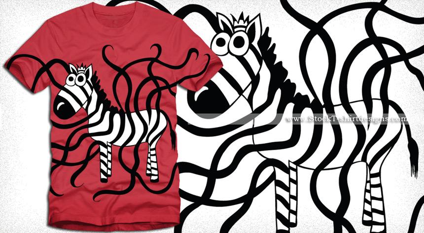 Zebra t shirt design vector graphics vector t shirt designs for Vector art for t shirts