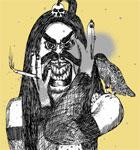Vector Tee Design with Demon Man