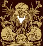 Vintage Skull Vector T-shirt Design