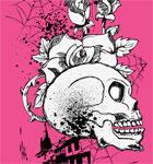 Skull with Flower Vector T-shirt Design