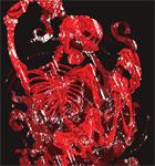 Devil Skeleton T-shirt Design Vector