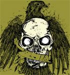 Eagle T-shirt Design with Skull
