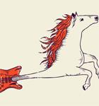 Flying Horse Guitar Vector T-shirt Design